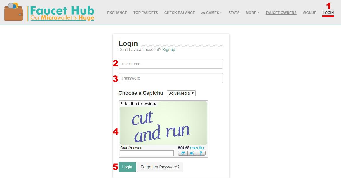 Guide FaucetHub (MicroWallet - Multifaucet - AutoFaucet)