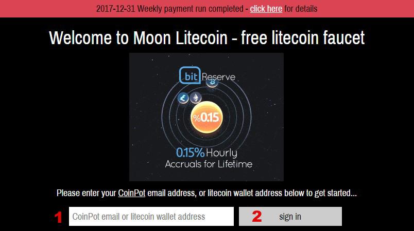 the Moon Litecoin